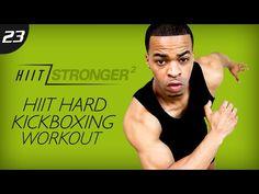 35 Min. HIIT: Kicking & Screaming - Kickboxing Workout   HIIT/STRONGER 02: Day 23 - YouTube Hiit, Kickboxing Workout, Workout Days, Total Body, Full Body, Pyramid Workout, Bodybuilding, Youtube Workout, Circuit Training