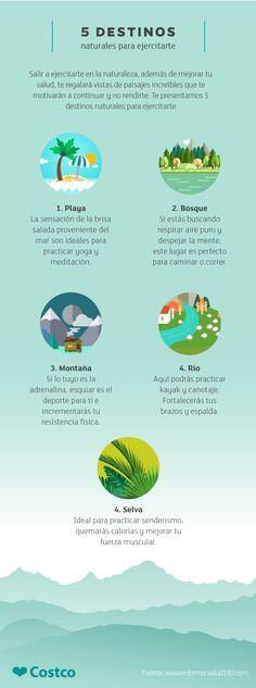 Según estudios, hacer ejercicio en la naturaleza mejora tu salud mental. Sal a respirar aire fresco y ejercítate en espacios verdes.