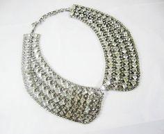 The Zoe Necklace  Vintage Baguette Rhinestone by LoveObsessed, $249.00
