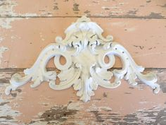 Shabby N Chic Architectural Crest Furniture Appliques Free Shipping | eBay