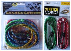 Bungee Cord 12x Elastic Luggage Cord Hook Straps Tie Down Touring Bungees
