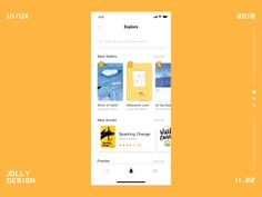 App Design Project iphone x motion animation animated book reading read ux gif clean ui app - si - Dekoration Web Design, App Ui Design, Graphic Design, Card Ui, Ui Animation, Mobile Ui Design, Mobile App Ui, Ui Design Inspiration, Interactive Design