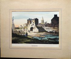Items similar to Vintage Antiquarian hand coloured lithograph of North Gate, Athlone, Co. Westmeath in Ireland on Etsy Hand Coloring, My Etsy Shop, Unique Jewelry, Handmade Gifts, Crafts, Painting, Vintage, Art, Kid Craft Gifts