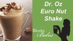 Dr Oz Euro Nut Smoothie Shake Recipe: 1 c  milk; 1 T vanilla; 2 dates; 2 T cacao; 2 to 4 T  hazelnut butter; 2 T plant-based protein powder; 1 T ground flaxseed (optional) & 1 to 2 c ice