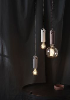 American-Japanese design team WRK-SHP's Tied pendant has simple utilitarian appeal. It combines a pared-back Japanese/Scandi aesthetic but with the spun cord reminiscent of American industrial production