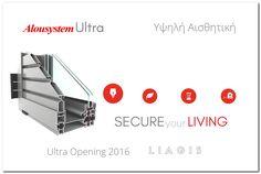Τοποθέτηση ενεργειακών κουφωμάτων αλουμινίου Alousystem Ultra Live For Yourself