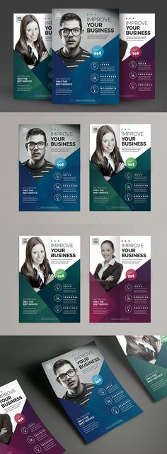 Corporate Flyer Template PSD - A4 #unlimiteddownloads