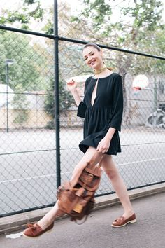 Xssat for Spy Style: Your new summer uniform Uniform Dress, Freshman Year, Summer Looks, Style Summer, Dress Me Up, Style Me, Personal Style, Cold Shoulder Dress, Normcore