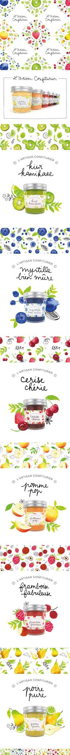 Illustrated marmelade packaging