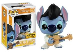 Funko have just released the first exclusive from the new editions of the Disney Lilo and Stitch pop vinyl collection which features a detailed and adorable Stitch POP figure dressed up as Elvis Presley. The Hot Topic exclusive will be out in stores and H http://amzn.to/2sBSGPf