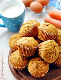 Yummy Treats, Sweet Treats, Carrot Muffins, Sweet Recipes, Food Photography, Deserts, Dessert Recipes, Food And Drink, Cooking Recipes