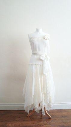 Etsy: Upcycled Woman's Clothing Romantic Eco Style Wedding by EkoLuka, $190.00