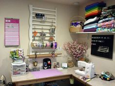 Jessica Ripley repurposed a crib rail in her craft room as a rack to hang tools from.