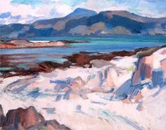 Ben More from Martyrs Bay, Iona, 1925 - Samuel Peploe.(Style: Post-Impressionism)