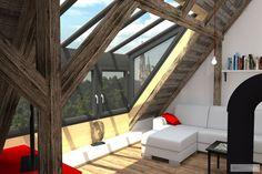 Rekonstrukce půdy na osobitý mezonetový byt – Šumperk | očkodesign
