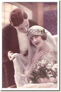 Days Gone By Early Bridal French Postcard