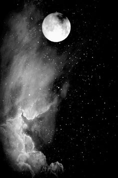 Sun moon, stars and moon, dark moon, moon and stars wallpaper, ciel Stars And Moon, Stars Night, Over The Moon, Moon Pictures, Pretty Pictures, Full Moon Photos, Ciel Nocturne, Moon Magic, Beautiful Moon