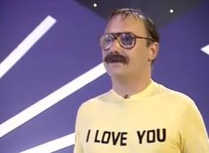 I wish I owned Bill Decker's teeshirt from this Reeves and Mortimer sketch. Vic Reeves, Dark Matter, Shooting Stars, Ell, Onions, Comedians, Funny Things, Comedy, Stage