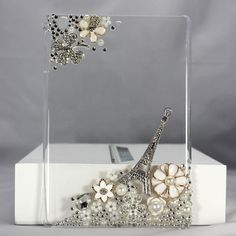 Bling Paris Crystal Diamond Rhinestone Hard Clear Case Cover Skin For iPad I really want this for my I pad