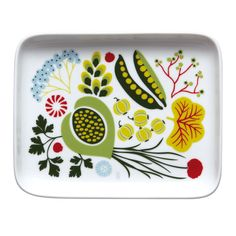 Hanna Werning was inpired by vegetables from the traditional Swedish garden and wood combined with patterns from the fifties when creating the Kulinara range of dinnerware products. Swedish Dishes, Kitchenware, Tableware, Coffee Set, Stamp, Teller, Serving Platters, Scandinavian Design, Decoration
