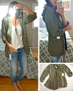 i've been wanting an army green jacket. this is cute but i may want one that is more fitted? Not sure.