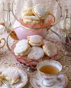 puffs for your afternoon tea Cute Food, Yummy Food, Tea Cookies, Aesthetic Food, Vintage Tea, High Tea, Let Them Eat Cake, Tea Time, Food Porn