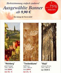 Ausgewählte #Herbstbanner, ab 9,90 €!!! Zaubern Sie ganz einfach und schnell eine #herbstliche Atmosphäre in Ihrem #Schaufenster & #Verkaufsraum. Nur solange der Vorrat reicht! http://shop.decowoerner.com/cgi-bin/WebObjects/XSeMIPS.woa/cms/page/locale.deDE/pid.4690/mlid.1994/NL-2016-08-16-Banner-Herbst-AI.html