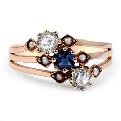 Art Neuveau era Azul Ring