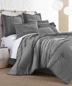 Dark Gray Collete Eight-Piece Comforter Set #zulily #zulilyfinds