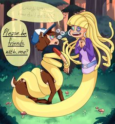"""Monster Falls lucile-the-dinosaure: somnefarious: """"Next time, just ask, okay?""""I like thinking that Pacifica, from the Monster Falls au, has hypnotic powers that turn on whenever she gets nervous or anxious about something. Gravity Falls Anime, Gravity Falls Funny, Gravity Falls Dipper, Gravity Falls Fan Art, Gravity Falls Comics, Dipper And Pacifica, Dipper And Mabel, Dipper Pines, Billdip"""