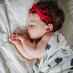 Wonder what this sweet sleeping babe is dreaming about... 😍❤️💜    #Regram via @margauxandmay