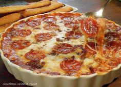 Four layer pizza dip