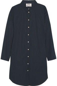 Acne Studios Lash oversized cotton-poplin shirt dress   NET-A-PORTER