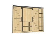 Sliding Barn Door Media Wall Suite | Ana White | Bloglovin'