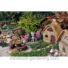 A picture gallery displaying images of planters of varying sizes, shapes, and themes. Miniature Plants, Miniature Fairy Gardens, Mini Gardens, My Fairy Garden, Fairies Garden, Fairy Furniture, Garden Doors, Fairy Garden Accessories, Fairy Land