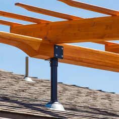 Builder's Hardware Support for Patio Cover, Pergola, Solar & Shade Sail Outdoor Living Structures. Gazebo On Deck, Backyard Walkway, Backyard Buildings, Screened In Patio, Pergola With Roof, Back Patio, Pergola Patio, Diy Patio, Pergola Plans