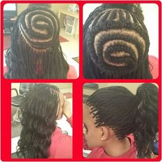Supposed to be micros but hair was too long so I had to crochet the middle.Love the end result.Used Kima Ocean Wave hair. # micro Braids middle part Ghana Braids Hairstyles, Crochet Braids Hairstyles, Girl Hairstyles, Braided Hairstyles, Crochet Braid Pattern, Braid Patterns, Crochet Micro Braids, Black Girl Braids, Girls Braids