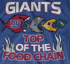 NY Giants are at the top of the #NFCEast food chain lol #NYG