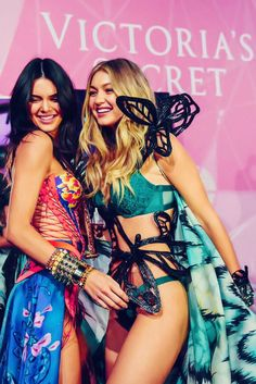 Kendall Jenner and Gigi Hadid at the Victoria's Secret Fashion Show