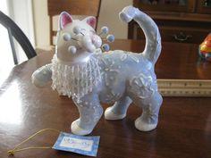 Amy Lacombe Whimsiclay Cat Figurine Snowflake