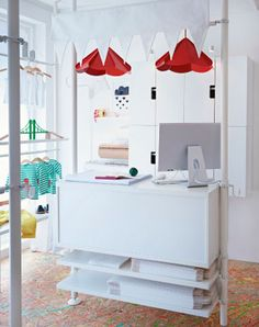 STOLMEN storage solution with drawers and shelves
