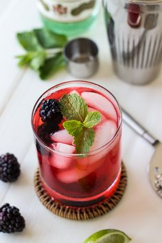 Blackberry Mojito - The Beach House Kitchen