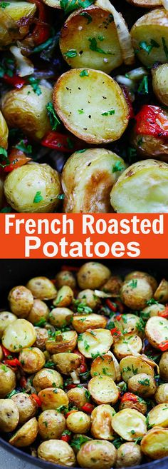 French Roasted Potatoes – easy recipe with baby potatoes, onion and bell peppers. This French-style roasted potatoes is delicious and a perfect side dish | rasamalaysia.com