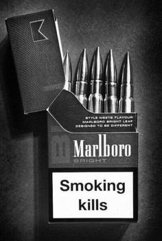 """Message and tone are pretty spot on from the content to the coloring (or lack of). Only thing I dislike about this is the look of the """"Smoking kills."""" I really think it could look a little better rather than just a white box with plain text."""