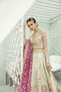 Exclusive Collection of Pakistani Bridal Dresses Online by Pakistani Designers to Buy for Pakistani Brides looking for a Traditional or Contemporary Bridal & Wedding Dresses. Asian Wedding Dress Pakistani, Beautiful Pakistani Dresses, Desi Wedding Dresses, Pakistani Formal Dresses, Pakistani Couture, Indian Bridal, Indian Dresses, Indian Outfits, Indian Clothes