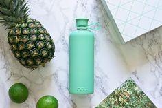 Doli Trinkflasche Glas BPA-frei ohne Schadstoffe, Wasserflasche, Mint