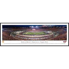 Worldwide Blakeway Panoramas Battle at Bristol 'Tennessee vs Virginia Tech' Framed Print