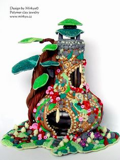 Polymer clay fairy houses   Flickr - Photo Sharing!