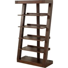 """Wade Logan Levi 65"""" Leaning Bookcase Finish: Burnt Brown"""