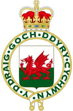 File:Royal Badge of Wales - Wikipedia Y Ddraig Goch, Welsh Dragon, Cardiff Wales, National History, Dragon Crafts, Cymru, Red Dragon, My Heritage, Coat Of Arms